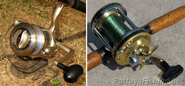 Fixed spool reel and multiplier reel